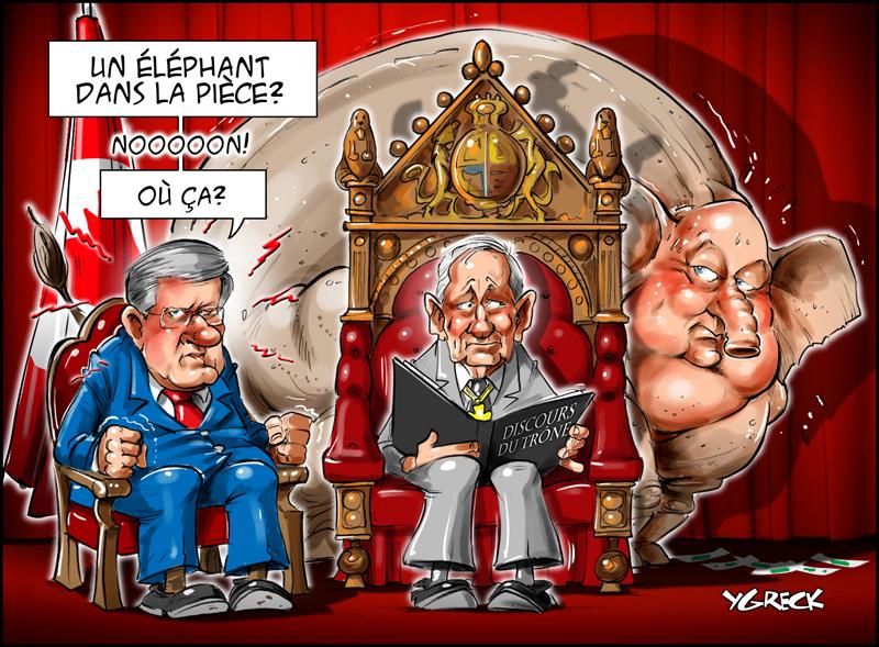 Harper-throne