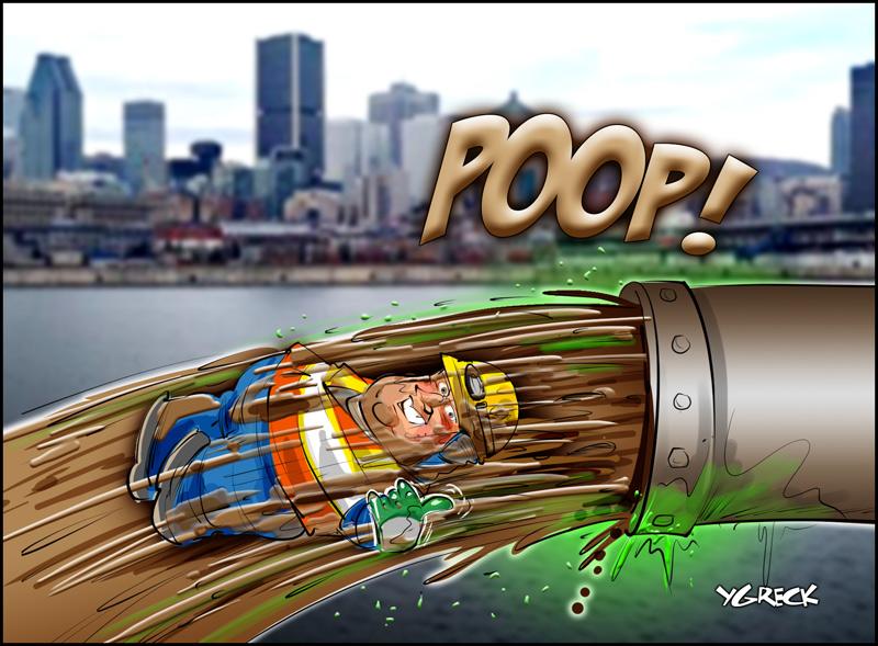 Coderre-poop