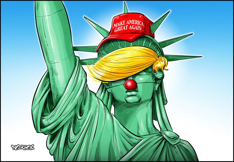 Trump-statue