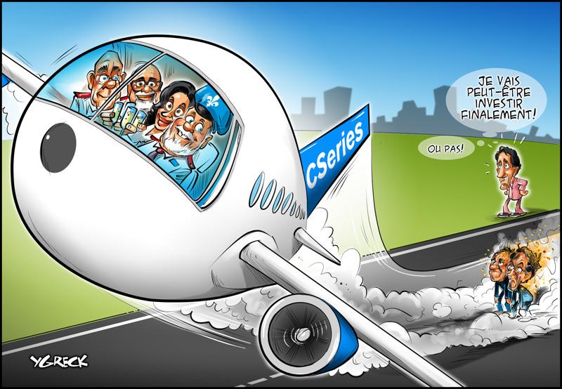 Bombardier-decollage