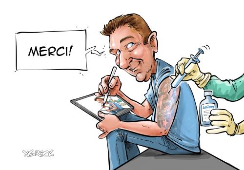 Autocaricature-vaccin